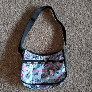 LaSportsac Purse Handbag Crossbody Floral Hearts